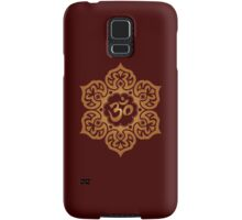 Brown Lotus Flower Yoga Om Samsung Galaxy Case/Skin