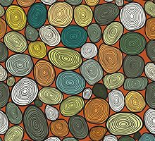 Seamless circles hand-drawn pattern, circles background. by smotrivnebo