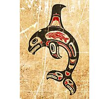 Red and Black Haida Spirit Killer Whale Photographic Print