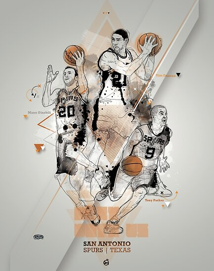 SPURS tribute - Parker Ginobili Duncan by merley mickael