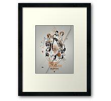 SPURS tribute - Parker Ginobili Duncan Framed Print
