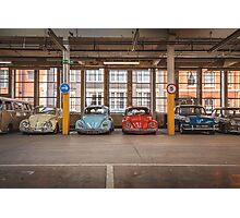 VW Beetle Bus Camper Classics Photographic Print