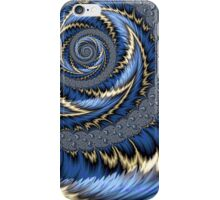 Blue Gold Spiral Abstract iPhone Case/Skin