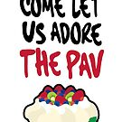 Come let us adore The Pav - Christmas Card by thickblackoutline