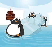 Birthday Penguin by rickystiles