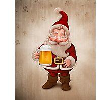 Santa Claus Beer Photographic Print