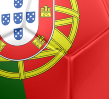 Portugal - Portuguese Flag - Football or Soccer 2 Sticker
