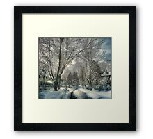 Brookline after Blizzard Nemo Framed Print