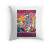 Mechanical Mayhem Throw Pillow