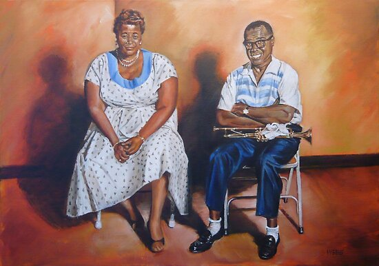 Ella Fitzgerald & Louis Armstrong by wonder-webb