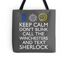 SUPERWHOLOCK SUPERNATURAL DOCTOR WHO SHERLOCK Tote Bag