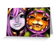 League Of Legends - Lulu & Gnar Greeting Card