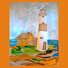 The Lighthouse by the Sea by JoAnnFineArt