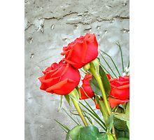 Bouquet with Red Roses 3 Photographic Print