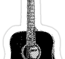 Steel String Accoustic Guitar Sticker