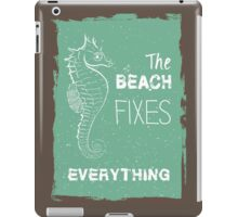 Summer quote poster the beach fixes everything iPad Case/Skin