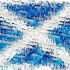 Scottish Saltire Flag Texture Design by Sookiesooker