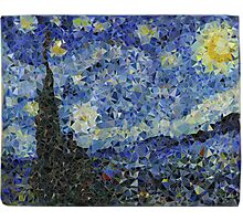 Low-Poly Starry Night Photographic Print