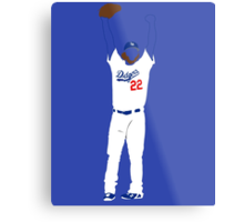 "Kershaw ""No-Hitter"" Metal Print"