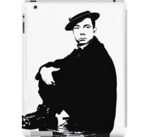Buster Keaton Sits On The Can iPad Case/Skin