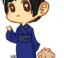 Hetalia: Chibi Japan and Pochi by aphlilwang