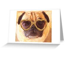 pug 3 Greeting Card