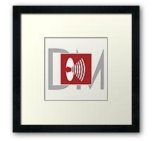 Depeche Mode - Music For The Masses Logo Framed Print