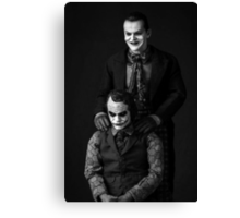 The Jokers Black Canvas Print