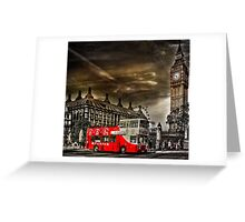 London Sightseeing Tours bus Greeting Card