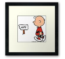 Charlie Brown Hope Framed Print