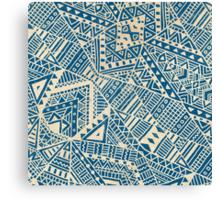 Tribal (blue)  Canvas Print