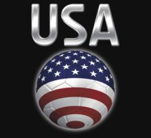 USA - American Flag - Football or Soccer Ball & Text 2 by graphix