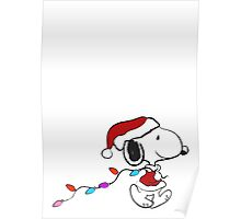 Snoopy - Holiday lights Poster