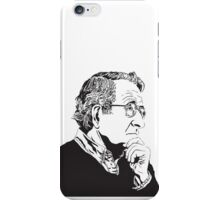 Noam Chomsky - Portrait Version - Great American Mind and Teacher iPhone Case/Skin