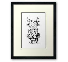 Girl and a monster Framed Print