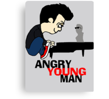 ANGRY YOUNG MAN Canvas Print
