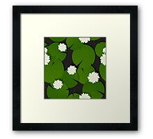 Background with watter lillies pattern Framed Print