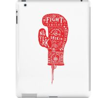 Boxing Glove Typography - the Fight of the Century iPad Case/Skin