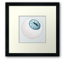 Eyes are the mirror too the soul.. Framed Print