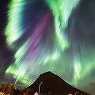 Northern Lights in the city by Frank Olsen