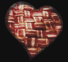 Bacon - Heart - Woven Strips by graphix