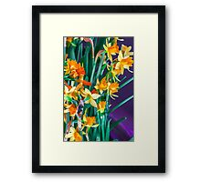 ABSTRACT DAFFODILS IN ORANGE Framed Print