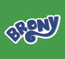 Brony Logo - Blue Kids Clothes