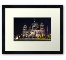Berlin Cathedral and Fernsehturm Framed Print