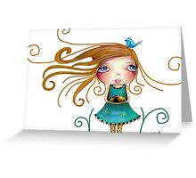 guinea pig girl Greeting Card