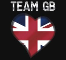 Team GB - British Flag Heart & Text - Metallic by graphix