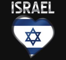 Israel - Israeli Flag Heart & Text - Metallic by graphix