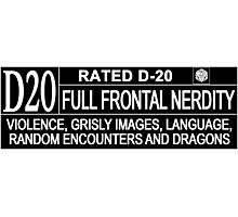 This Gamer is Rated D20 Photographic Print