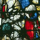 Stained glass Malvern Priory Greater Malvern England 198405180074 by Fred Mitchell