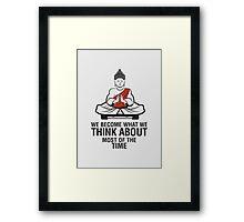 Buddah Meditation Framed Print